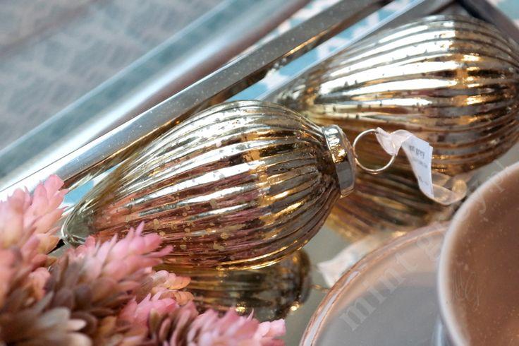 MINT GREY New York Style Interiors | produkty - dekoracje świąteczne Bombka GOLDIE 3; Christmas Ornaments