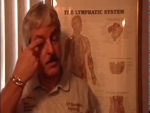 Dr. Mark Lynch demonstrating sinus/throat lymphatic drainage massage