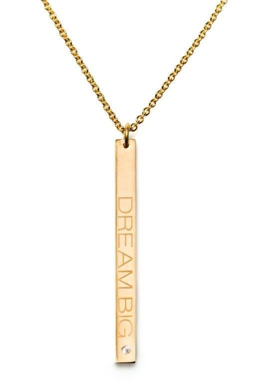 Power Quote DREAM BIG Necklace - HeidisHoff.no #necklace #dreambig #quote #jewelry #design