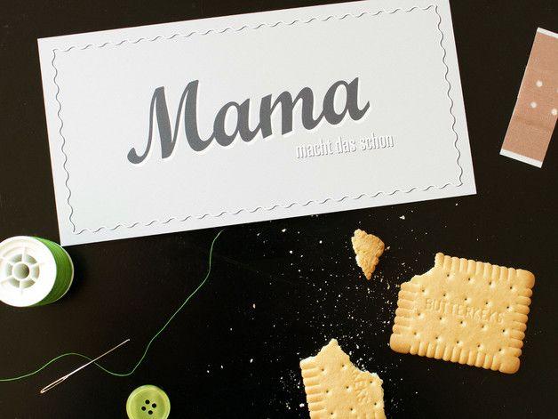 Mama macht das schon (Schild)  #muttertag #dawanda