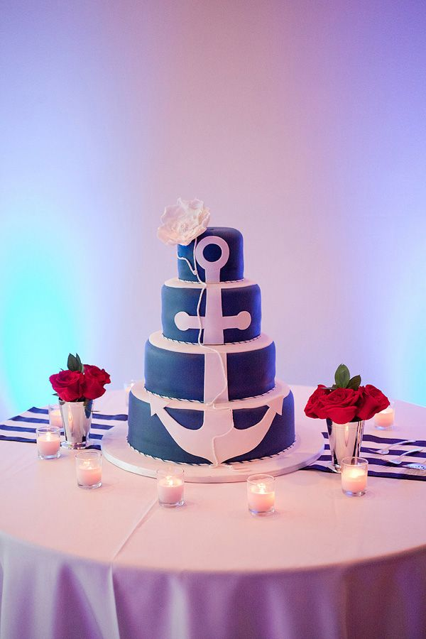 Southern wedding - nautical wedding cake