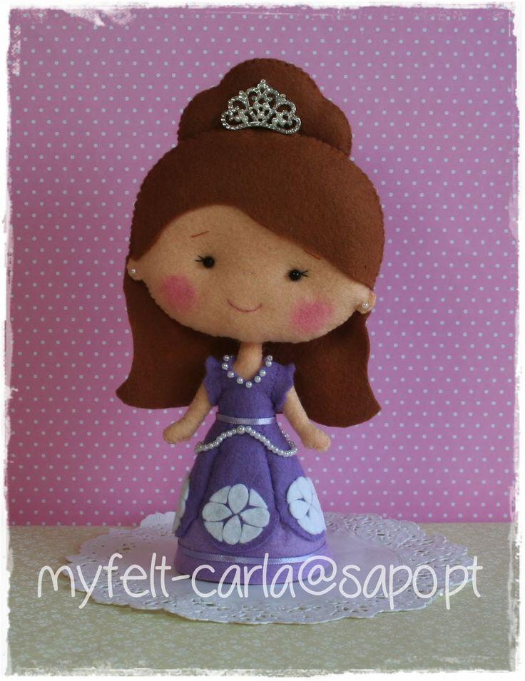 My Felt: Princesa Sofia em feltro!