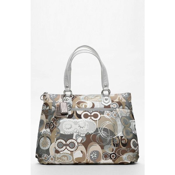 COACH POPPY POP C GLAM TOTE   Nordstrom ($228) ❤ liked on Polyvore featuring bags, handbags, tote bags, coach handbags, handbags totes, coach tote bags, coach tote and poppy purse