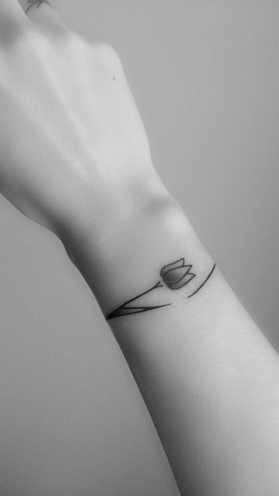 Bracelet tulip tattoo                                                                                                                                                                                  More