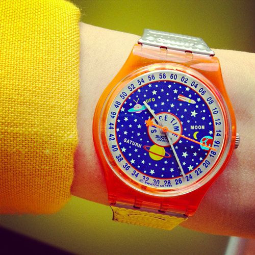 vintage SWATCH outer space 90s watch by PSYENCEFICTION on Etsy