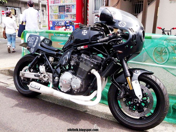 No Future Tokyo GS1200SS with early GSXR fairing and custom tail - not really a cafe racer, but strange enough to be mentioned here