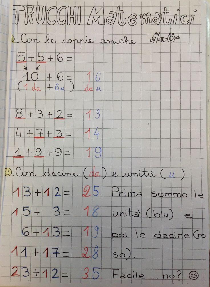Strategie di calcolo veloce in classe prima: la mia lezione e la scheda in PDF