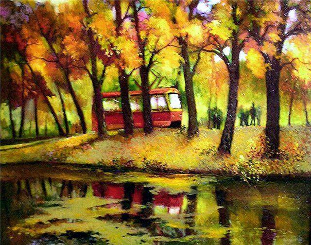 Щепалин А. Трамвай в осень.