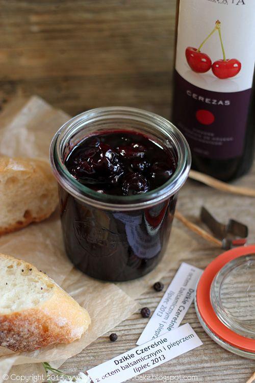 dżem czereśniowy z octem balsamicznym i pieprzem, cherry balsamic vinegrette and pepper jam #czereśnie #cherry #dżem #jam