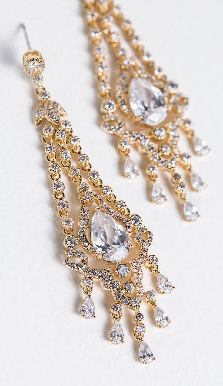 Deco Chandelier Earrings Gold Chandelier Earringsprom