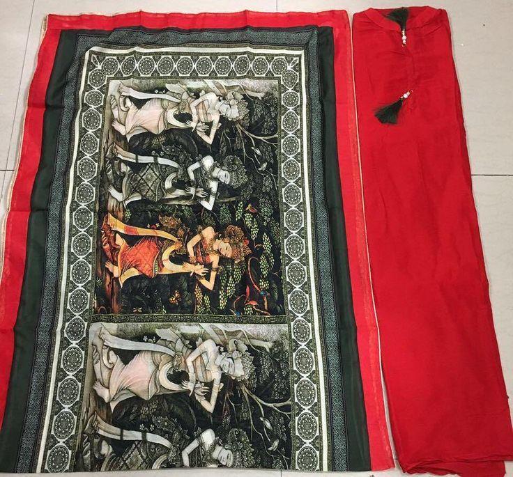 Semi stitched modal silk shirt with modal dupatta and cotton salwar.  PRICE:- call 9768897928 or Whatsapp or send Instagram message  #ethnicindianwear #fresco #frescowear