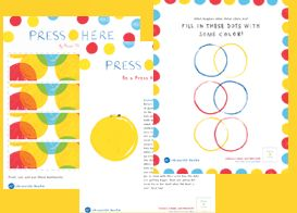 Press Here activities - an awesome book maybe i can make this a birthday party theme?