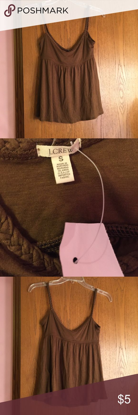 Brown cami New with tags J. Crew Tops Tank Tops
