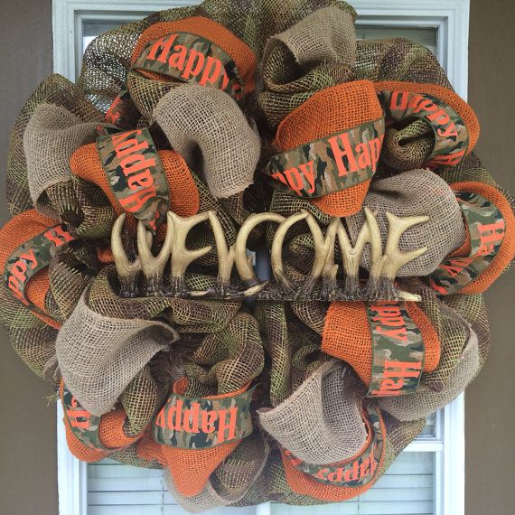 Rustic Outdoorsman Hunting Welcome Wreath by SouthernWreathDesign