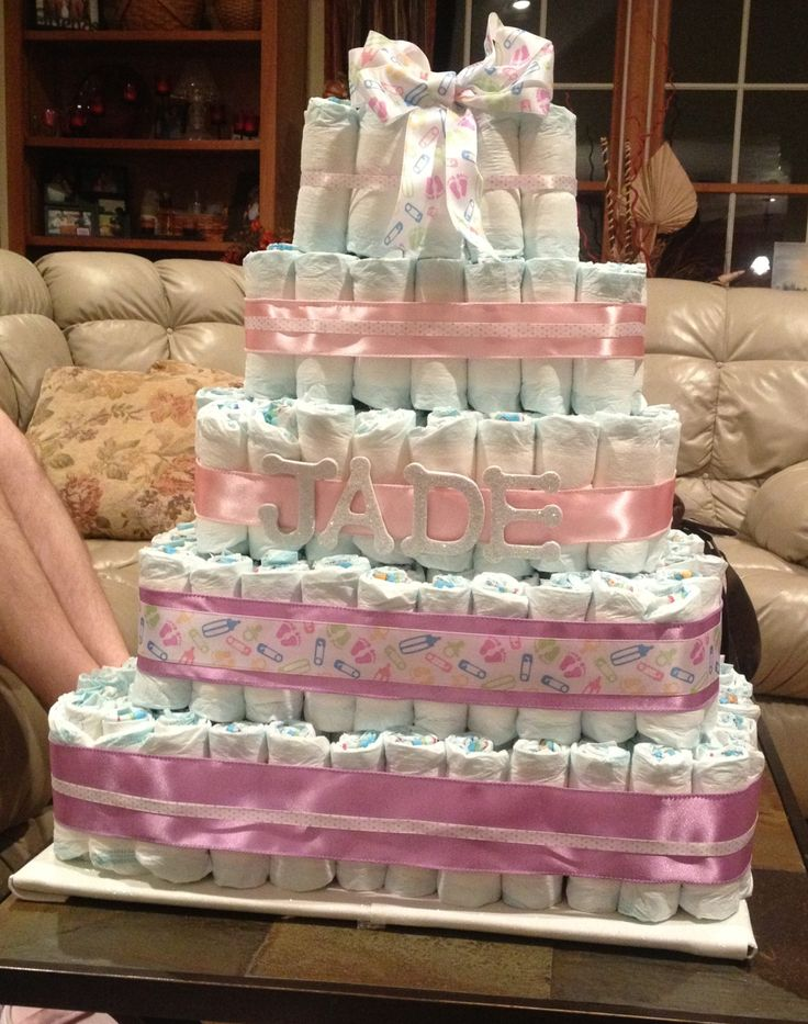 71 Best Square Diaper Cakes Images On Pinterest