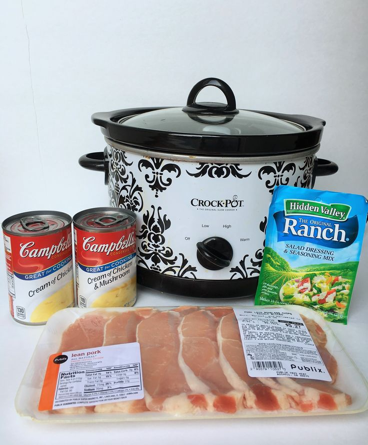Ranch Pork Chops - Crockpot Empire - Cream of Chicken Mushroom