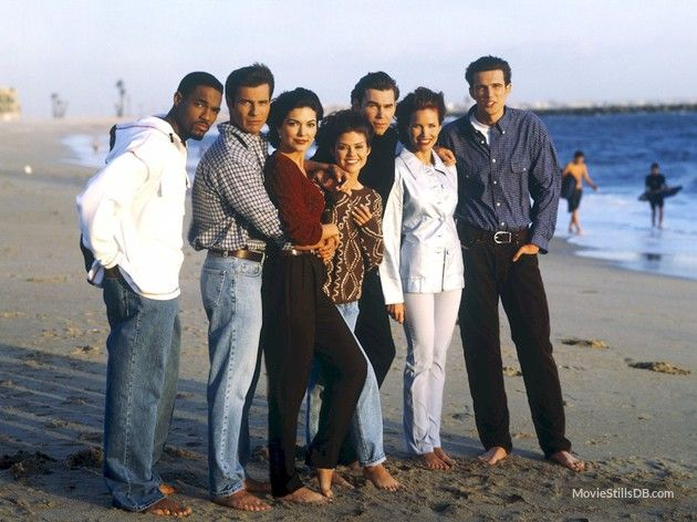 Sunset Beach promo shot of Susan Ward, Clive Robertson and others