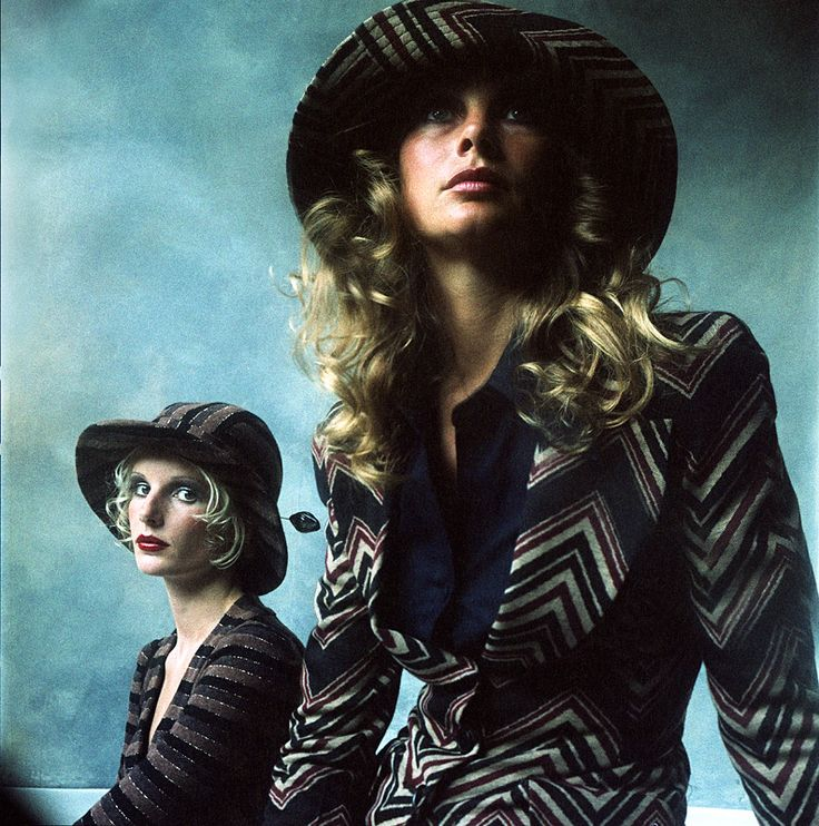 Biba Fashion, Jean Shrimpton & Barbara Miller - Telegraph - 1973. (Brian Duffy)