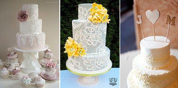 свадебный торт с кружевом  #wedding #cake #lace