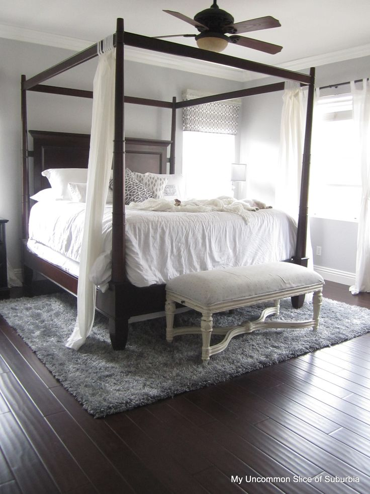 Wood Floors Revealed Canopy Beds Gray And Ceiling Fans