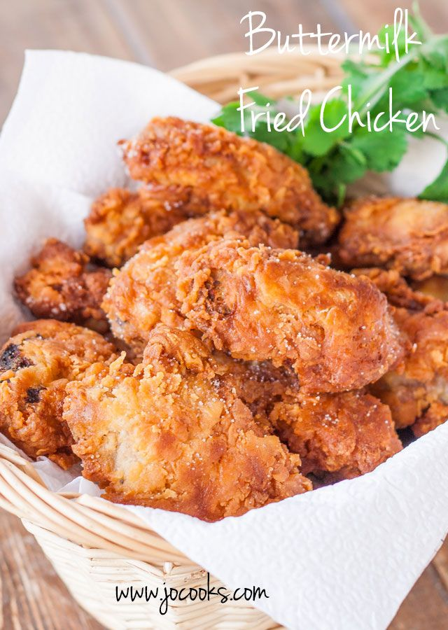 This Buttermilk Fried Chicken is super juicy, tender and so delicious! Perfect for lunch or dinner and served with a side salad.