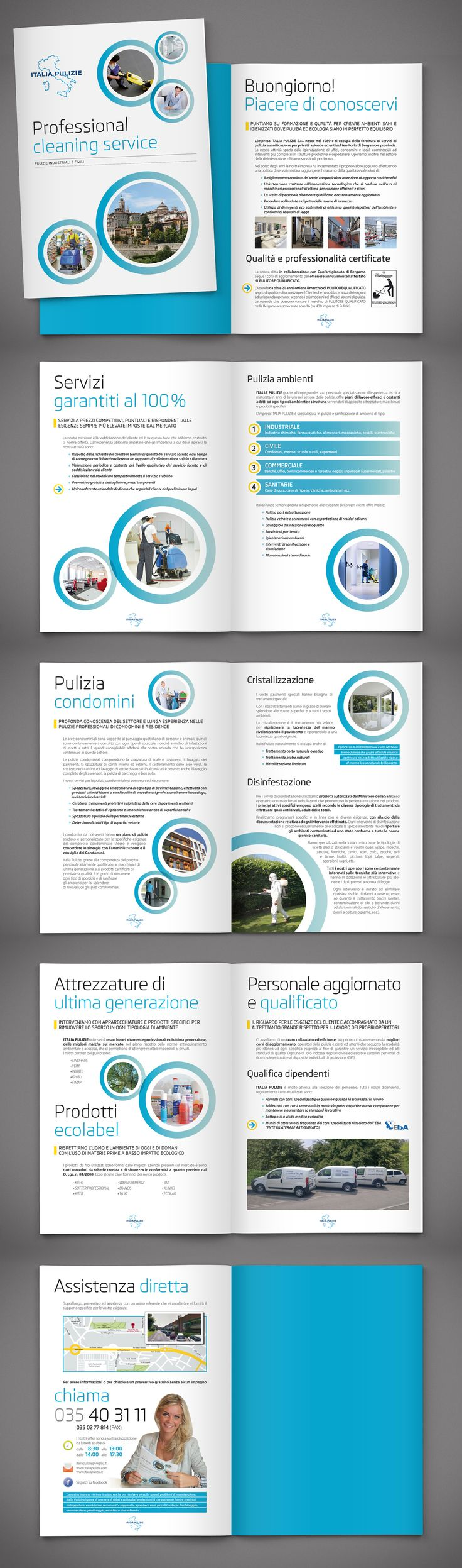 """Check out new work on my @Behance portfolio: """"Italia Pulizie  