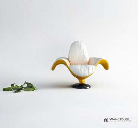 Banana chair by WamhouseComplementi Darredo, Σмρℓємєитι Αяяєσ