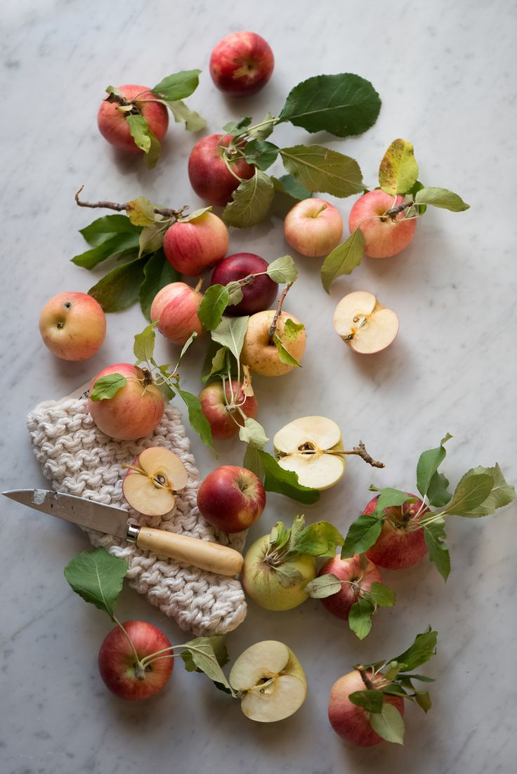 Apple varieties for Herb Apple Gruyere Scones | Now, Forager | Teresa Floyd Photography