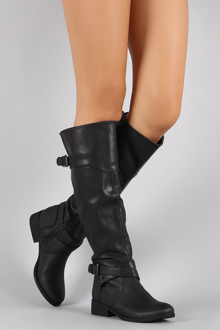 Qupid Buckle Round Toe Riding Knee High Boot---Only $38.90???!!! I'm taking these boots home. These boots are made for walking!!