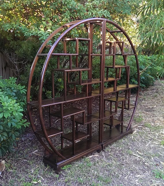 Fabulous Asian Round Shelf Room Divider by CreekStreetUnique, $820.00