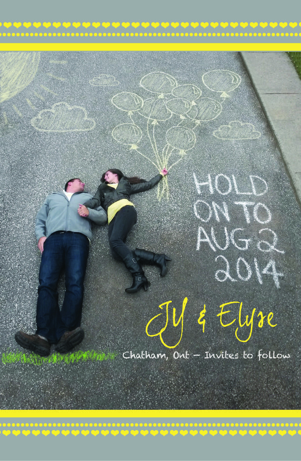 Save the Date | A creative way to share your date with your friends and family | Chalk | Photoshop | Avenue16