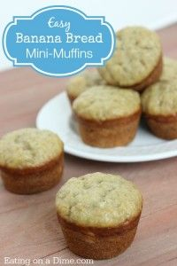 Easy Banana Bread mini muffins taste great and can be made in minutes
