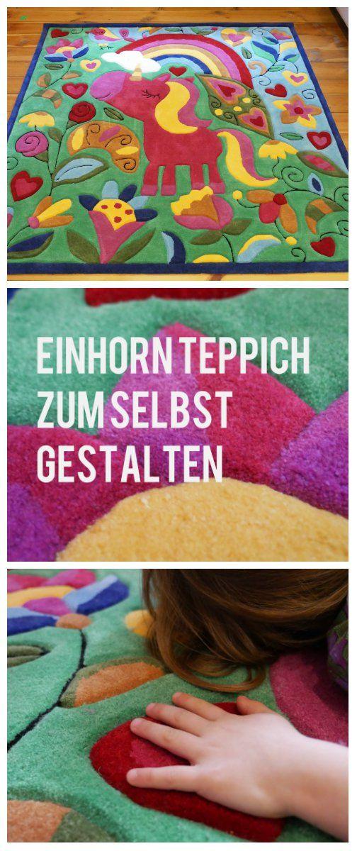 Der Einhorn Teppich: Das It Piece Fürs Mädchenzimmer! Kinderzimmer Teppich  Nach Malvorlage