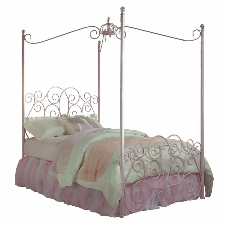 Princess Canopy Bed Metal Tubing Acrylic Ball Finials Pink Finish Twin Size  in Home Garden Furniture. Black Canopy Sauder Beds   almosttacticalreviews com