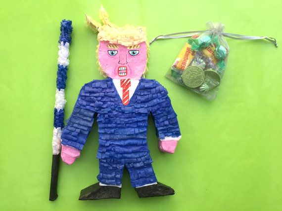 Mini Donald Trump Piñata Birthday Xmas Gift by MosaicBones