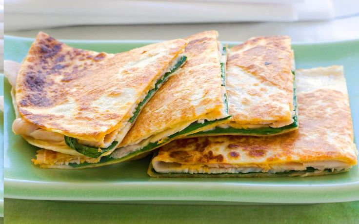 Enjoy the best of Mexican cuisine with these delicious quesadillas. Just pop these turkey-filled tortillas in the sandwich presser for a tasty meal that's never been simpler. Recipe by the Australian Women's Weekly.