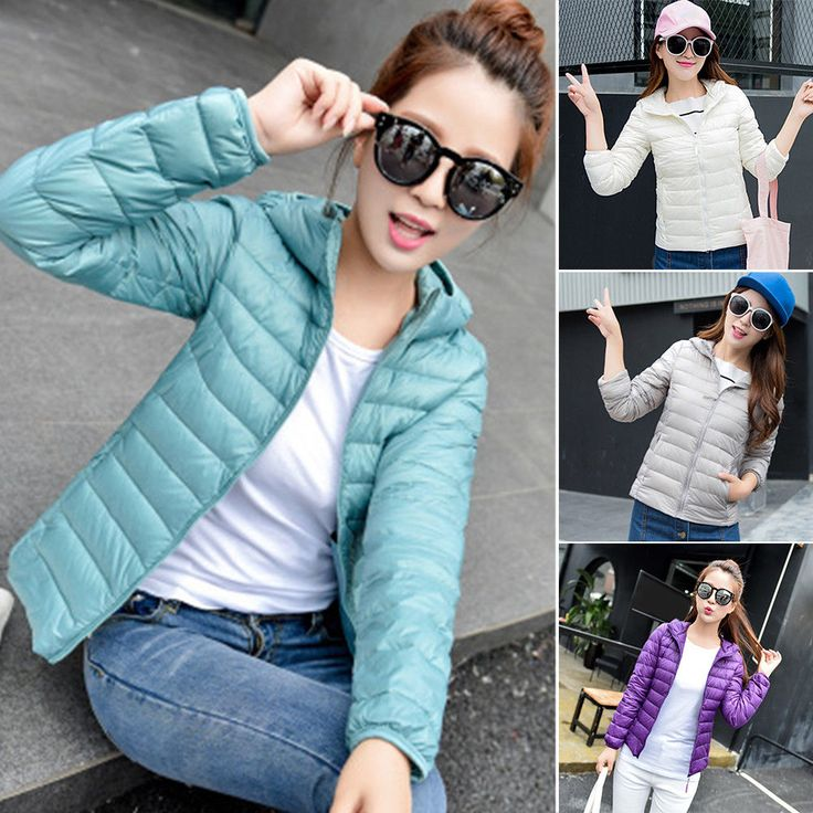 Fashion Women Winter Duck Down Jacket Slim Coat Hooded Ladies Parka Outwear Fit