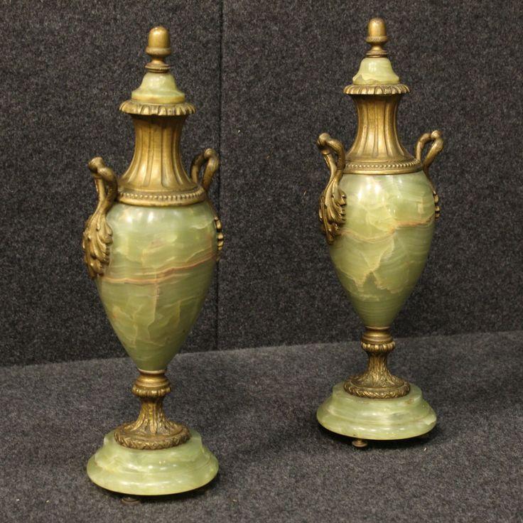 1100€ Couple of French potish vases in onyx. Visit our website www.parino.it #antiques #antiquariato #object #onyx #collecibles #vase #antiquities #antiquario #collectible #decorative #interiordesign #homedecoration #antiqueshop #antiquestore