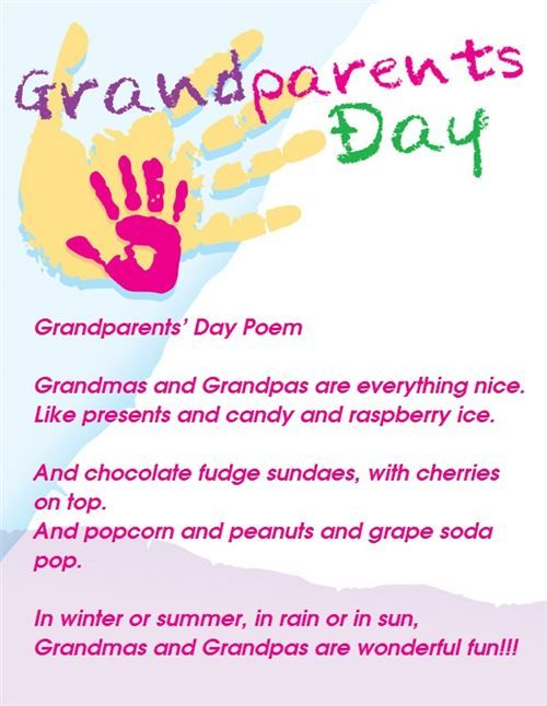 grandparents day poems for preschoolers Google Search