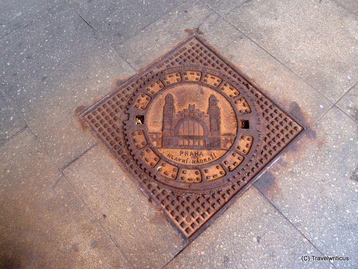 Manhole cover at Prague main railway station
