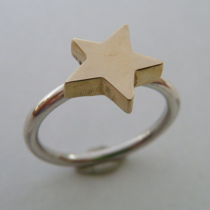 SILVER AND BRASS STAR RING by &Jewellery for sale on http://hellopretty.co.za