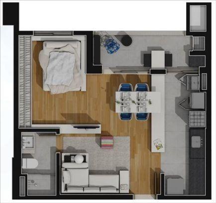 apartamentos planta 46m2,opcao 2