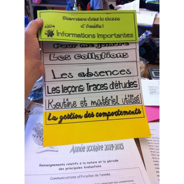 Informations importantes - Rencontre de parents