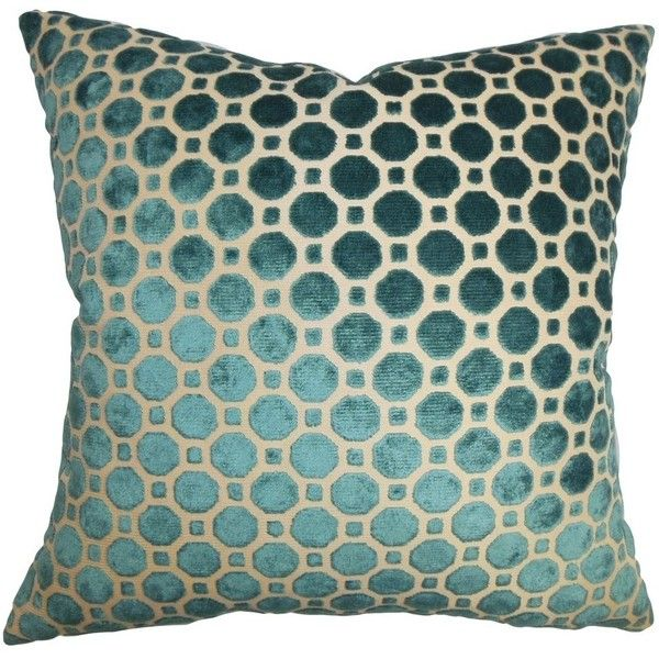 Kostya Geometric Pillow Turquoise   Contemporary   Decorative Pillows... ❤  Liked On Polyvore
