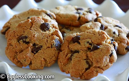 pb choc chip cookies-egg free! tons of other egg free recipes too!
