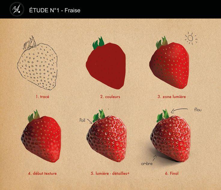 딸기 그리는 법