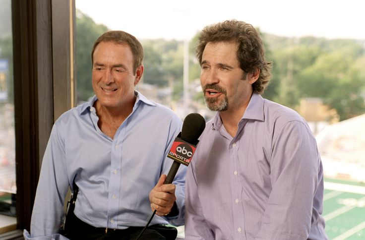Al Michaels and Dennis Miller, Monday Night Football announcers