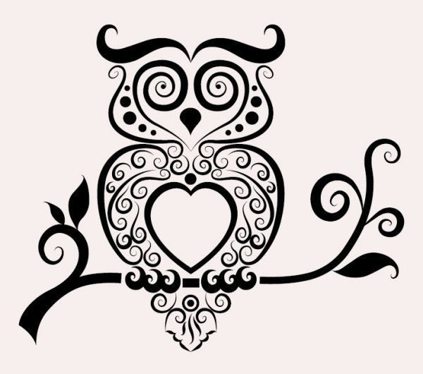 Free download Hand drawn owl Decoration Pattern vector. File format: EPS. Category: Animal vectors: