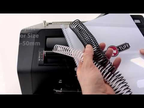 Rhin-O-Tuff Coil Binding System 3000 - Love this spiral coil binding machine. Buy this machine at http://www.binding101.com/rhin-o-tuff-coil-binding-system-3000