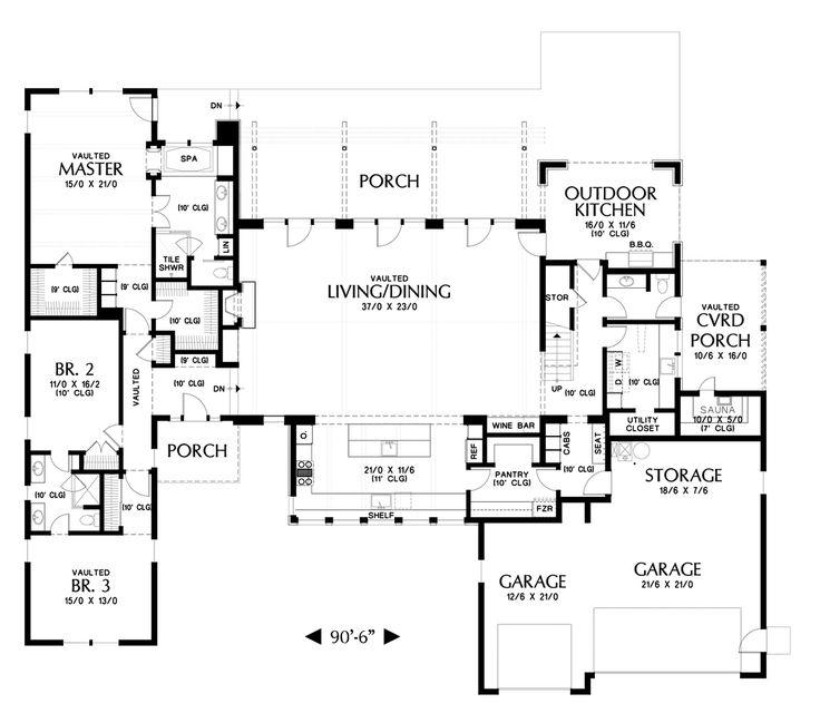 Mascord Floor Plans Part - 37: Main Floor Plan Of Mascord Plan 23102 - The Tilikum - Pacific North West  Industrial Loft Style Living